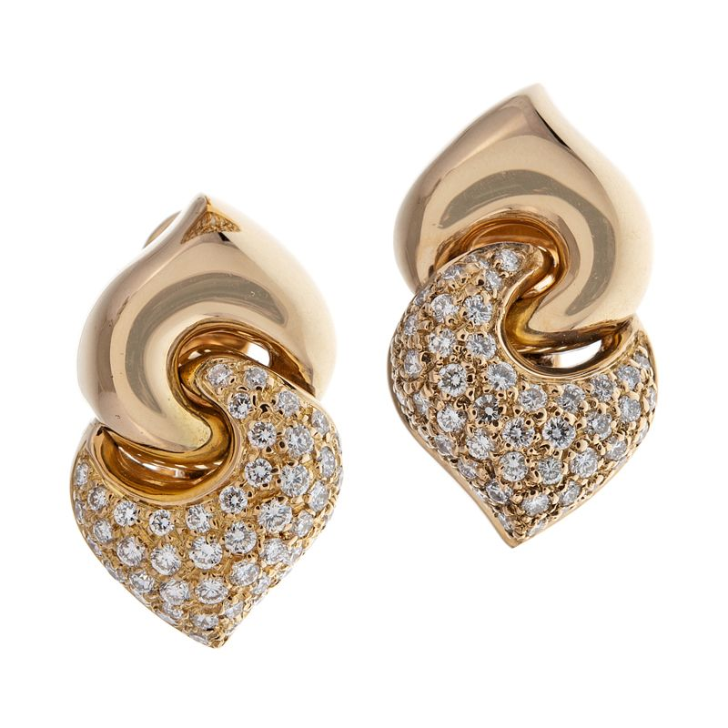 BULGARI Diamond Yellow Gold Earrings | Diamond, Gold and Diamond ...