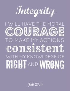 Moral Quotes Young Women Printable Integrity  Pinterest  Morals Quotes Morals