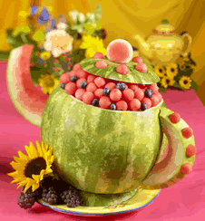 "adorable fruit bowl for a  ""tea party"""