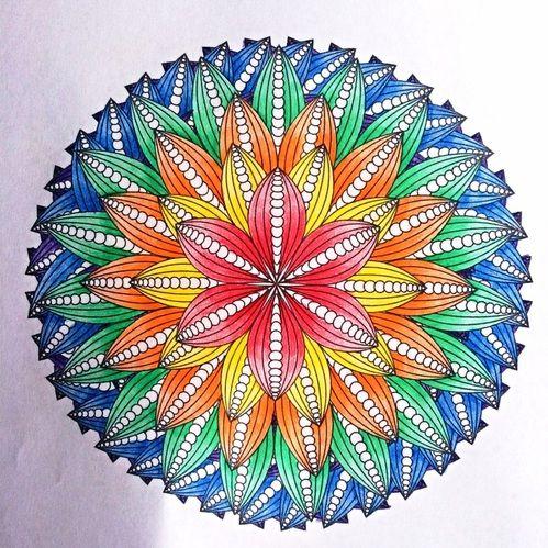 Coloring Flower Mandalas By Wendy Piersall