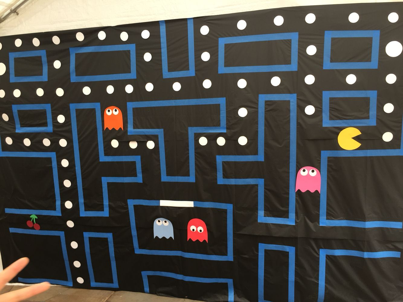 Pacman Wall Backdrop Trunk Or Treat Video Game Party Retro Party
