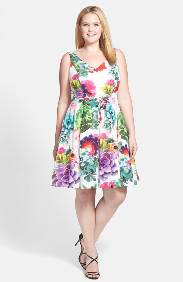 3468ec0967 15 Gorgeous Plus-Size Dresses to Rock This Wedding Season via Brit + ...