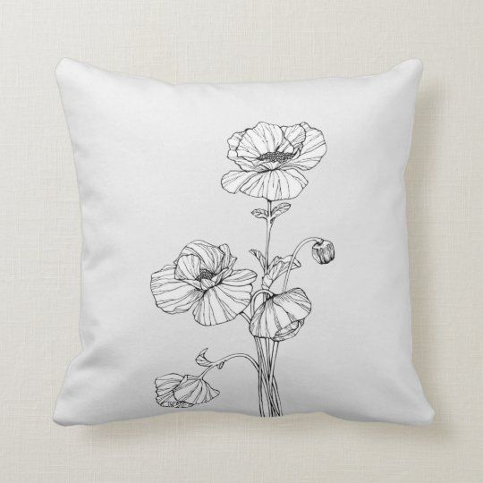 Photo of White Flower Throw Pillow