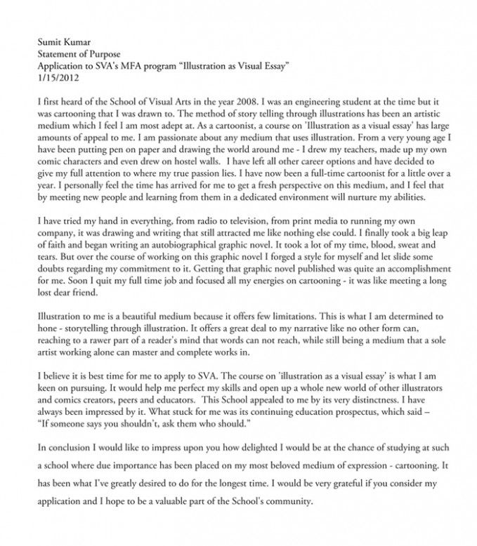 Art School Letter Of Intent How Will Art School Letter Of Intent Be In The Future Letter Of Intent Art School School Of Visual Arts