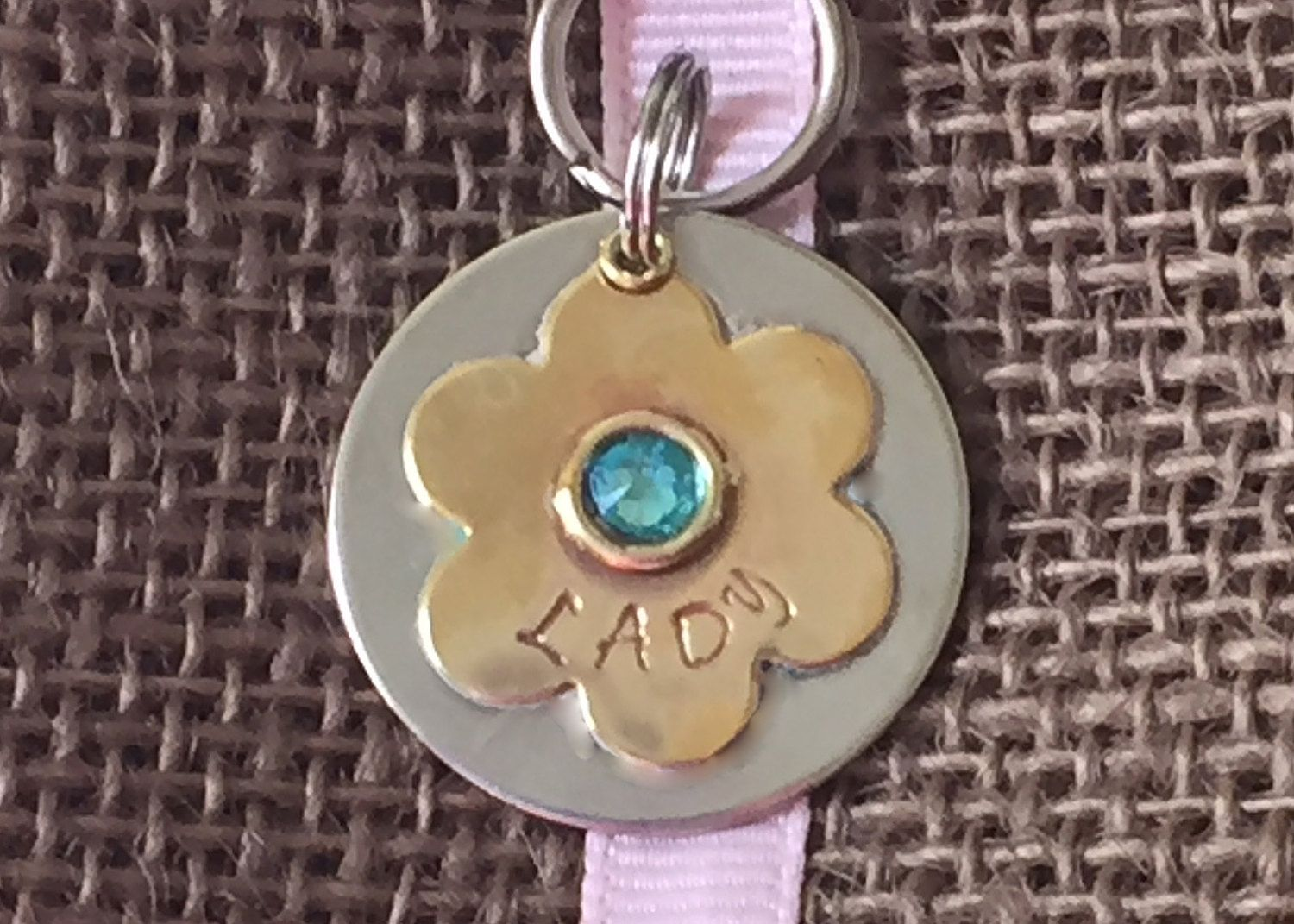 Personalized Pet ID Tag, Daisy, Dog Tag, Cat Tag, Metal