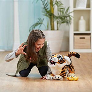 Amazon Com Furreal Roarin Tyler The Playful Tiger Toys Games Fur Real Friends Pet Sounds Tiger Images