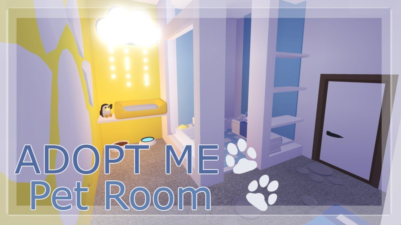 Cute Pet Room Adopt Me Speedbuild Youtube Animal Room Cute Room Ideas Adoption