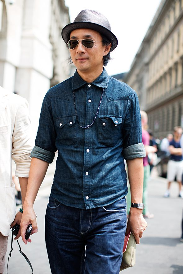 denim on denim. big fan. this made me think of the unquestionably suave @Bobby Bailey : )