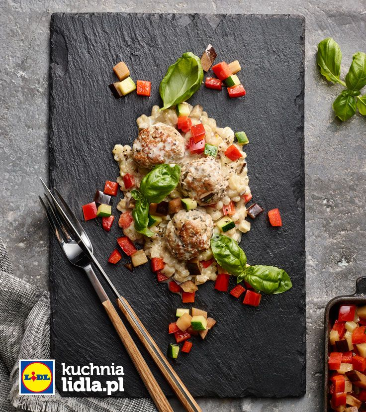 Kaszotto Kokosowe Z Klopsikami Z Miesa Mielonego Z Warzywami I Kozim Serem Przepis Recipe Favorite Recipes Main Course Recipes