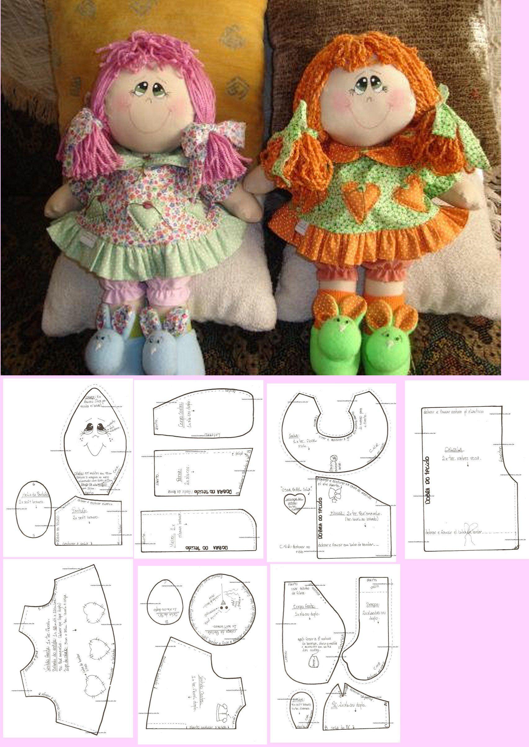 Muñecas con zapatitos de conejo | Patrón Libre | Pinterest | Conejo ...