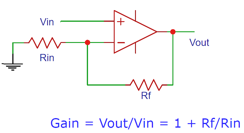 non inverting op amp circuit electronic circuit diagrams rh pinterest com
