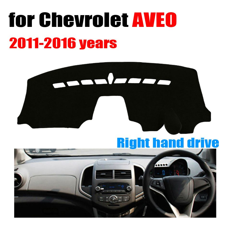 Car Dashboard Cover Mat For Chevrolet Aveo 2011 2016 Years Right Hand Drive Dashmat Pad Dash Covers Auto D Chevrolet Aveo Dashboard Covers Interior Accessories