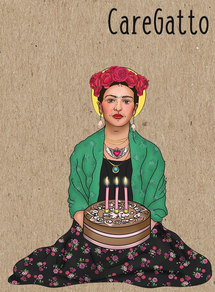 Frida Kahlo Birthday Card Photo Greeting Pinterest Frida Kahlo