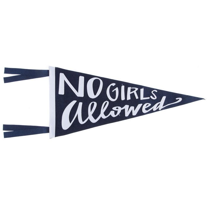 No Girls Allowed Pennant Banner | | zeke | | Pinterest | Pennant ...