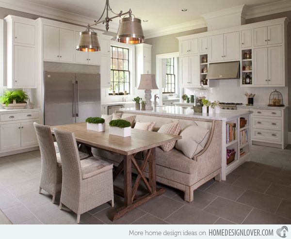 15 Traditional Style Eat In Kitchen Designs Home Design Lover Cosy Kitchen Kitchen Island With Seating Kitchen Table Bench