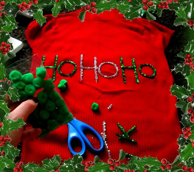 DIY Ugly Christmas Sweater by ErinB84, via Flickr ugly christmas