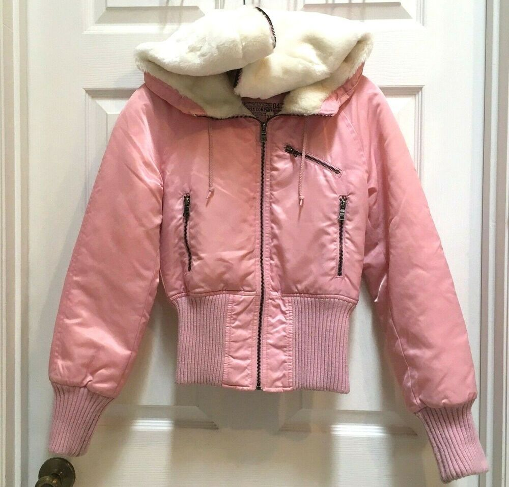 Guess Women S Jacket Extra Small Pink Puffer Full Zip Faux Fur Hood Coat Xs Guess Quiltedpuffer Jackets For Women Faux Fur Hooded Coat Jackets [ 956 x 1000 Pixel ]
