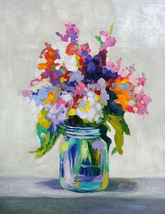 Image Result For Easy Acrylic Painting Ideas For Beginners Floral Oil Paintings Oil Painting On Canvas Oil Painting Flowers
