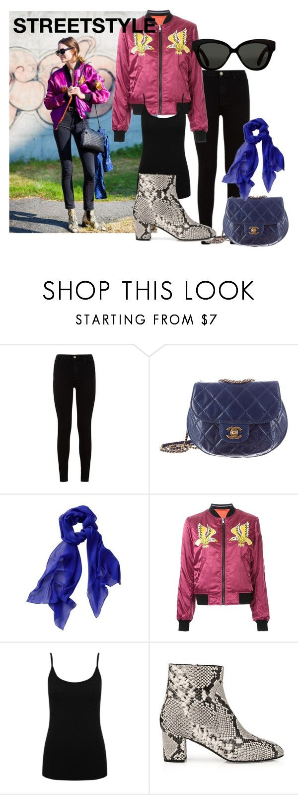 """""""Streetstyle #46"""" by romi-kella on Polyvore featuring 7 For All Mankind, Chanel, Diesel, M&Co, L.K.Bennett and Linda Farrow"""