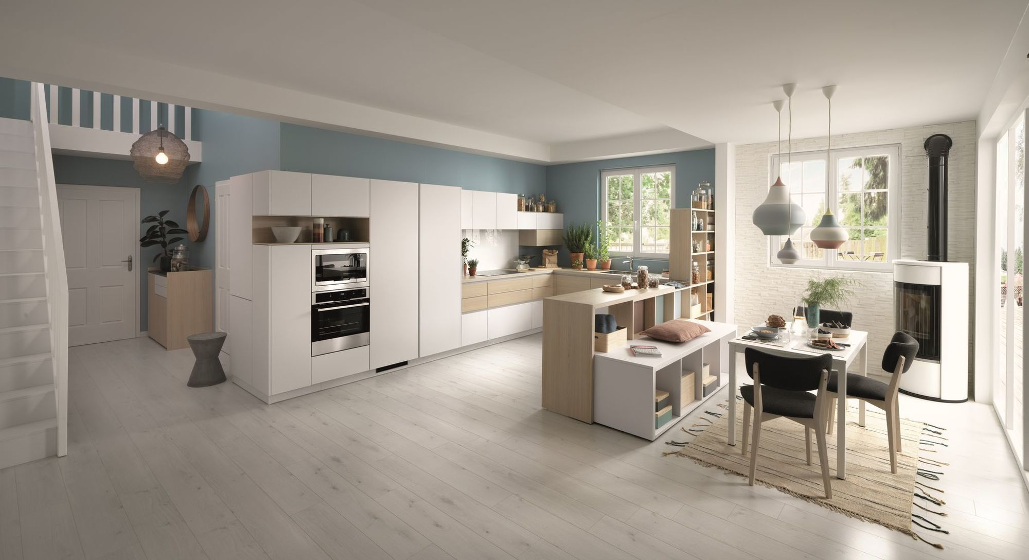 Tendance Cuisine 2020 Amenagement Et Deco Cuisine Blanche Et Bois Cuisine Moderne Cuisine Tendance