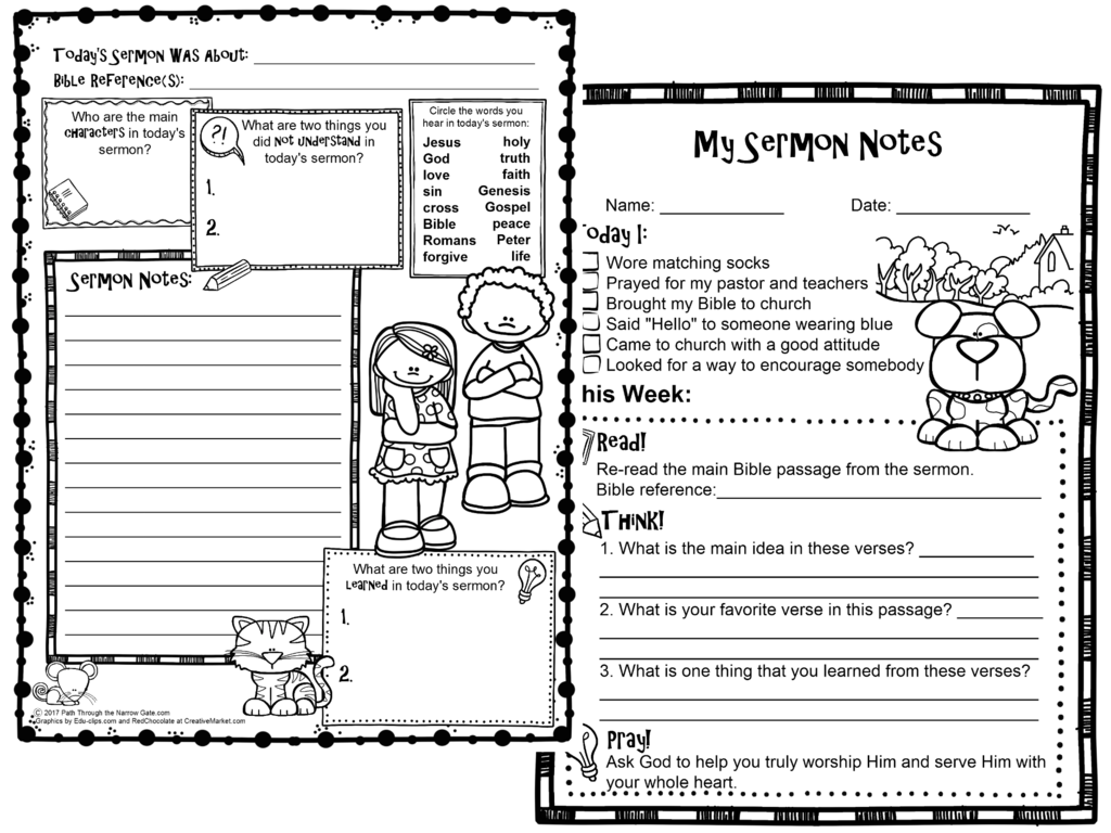 Sermon Notes With Images