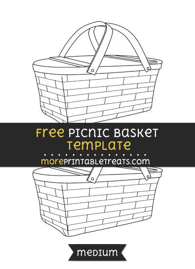 free picnic basket template medium shapes and templates