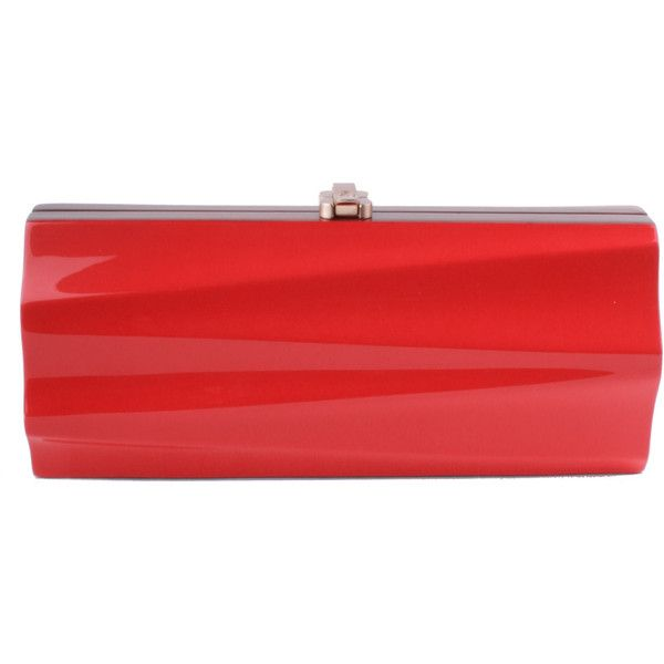 Milano Clutch - Red (2.305 BRL) ❤ liked on Polyvore featuring bags, handbags, clutches, evening clutches, wood handbag, red handbags, wood purse and special occasion clutches