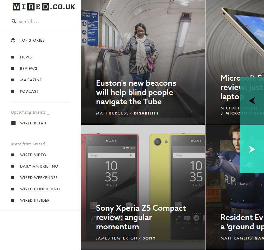 Wired.co.uk – #website #horizontal-scroll | Websites | Pinterest ...