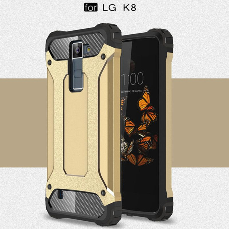>> Click to Buy << Dual Layer Heavy Case For LG K8 Plastic + Silicone Hybrid Armor Protective Shockproof Case For LG K8 LTE K350E K350N Back Cover #Affiliate