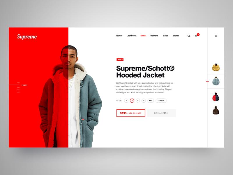 Supreme Ny Clothing Web Development Design Web Layout Design Web Design