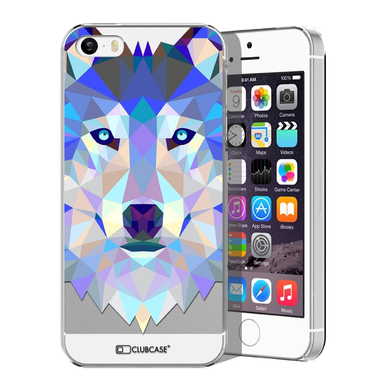 caseink coque housse etui iphone 5 5s crystal hd polygon series animal high. Black Bedroom Furniture Sets. Home Design Ideas