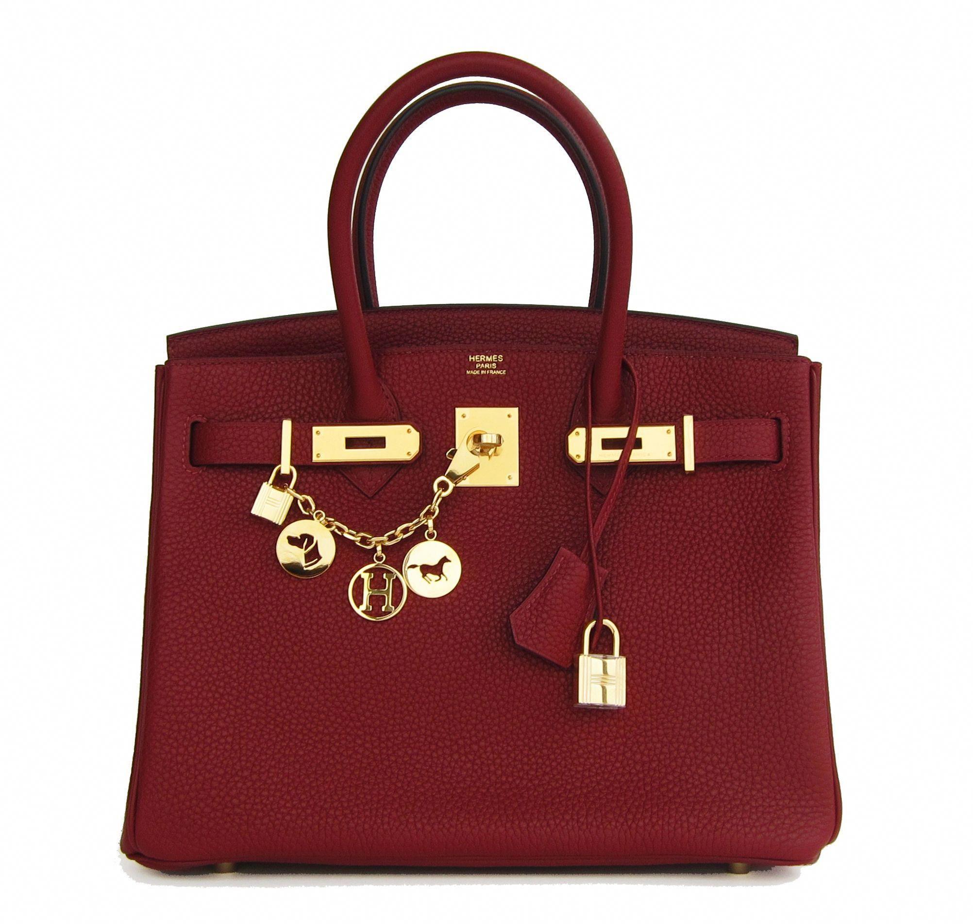 c3ee2c8f664b Hermes Birkin Bag Rouge H 30cm Clemence Gold Hardware  hermes  luxurybags   Designerhandbags
