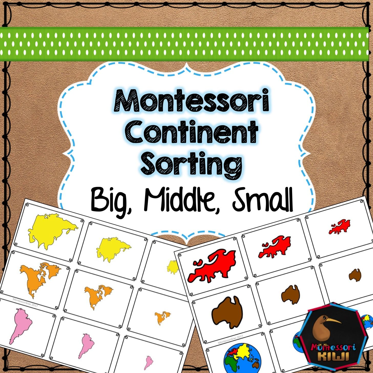 Continent Themed Math Sorting Montessori Preschool Math