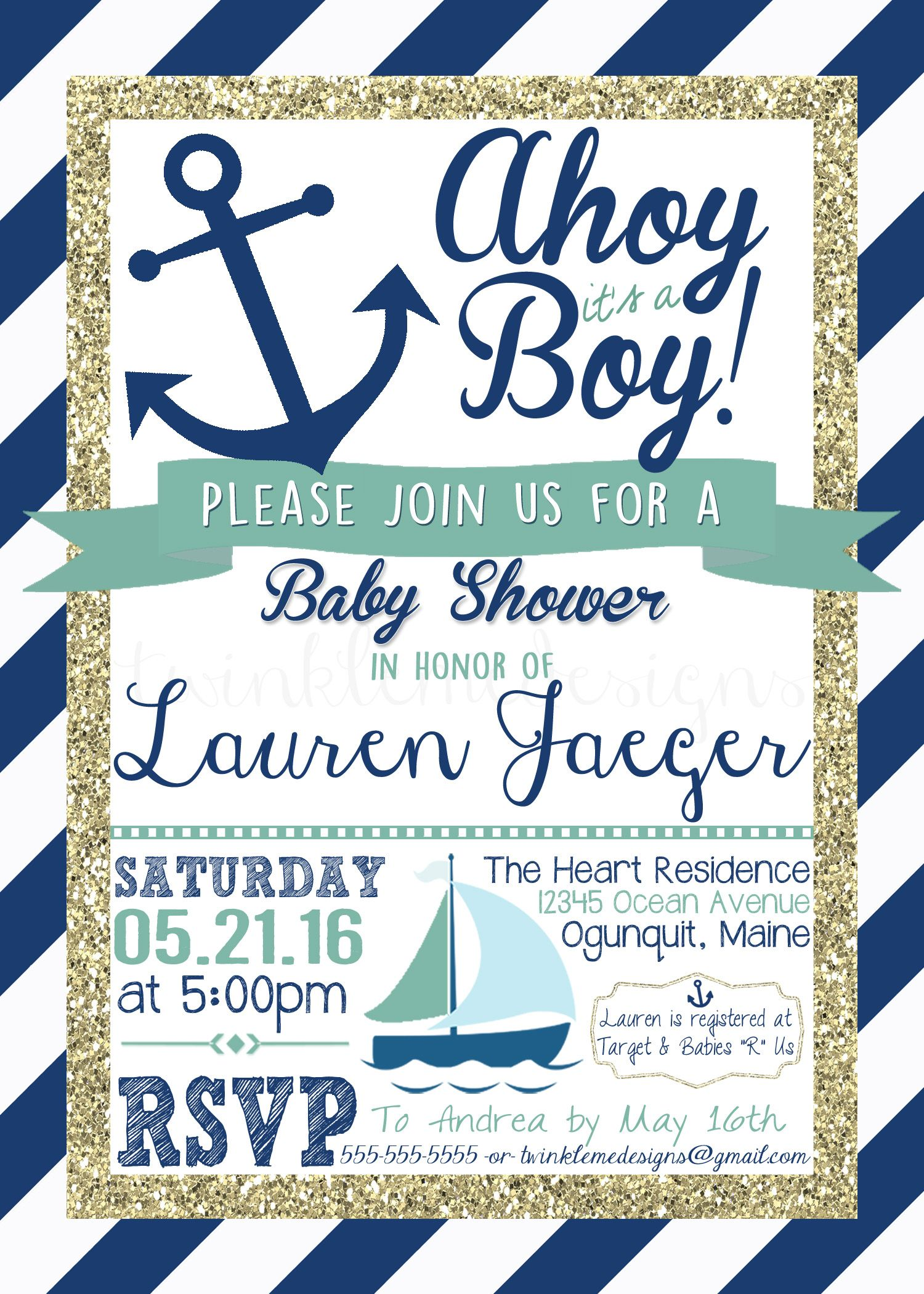 il listing invitation invitations printable zoom shower nautical boy fullxfull baby