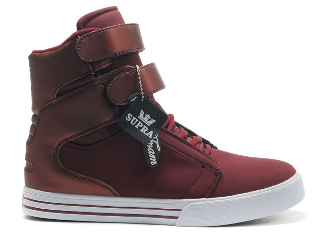 439cbfd0862 Mens Supra Society Dark Red Shoes