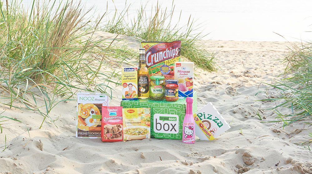 Zum Trinken, Snacken, als Hauptmahlzeit oder zwischendurch: in der brandnooz Box August 2015 war alles vertreten!