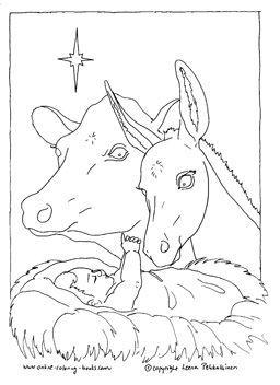 Bildergebnis Für Ochs Und Esel An Der Krippe Ausmalbild