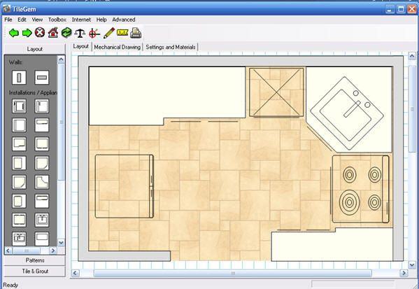 Tile Gem is a free software tool you can use to help you
