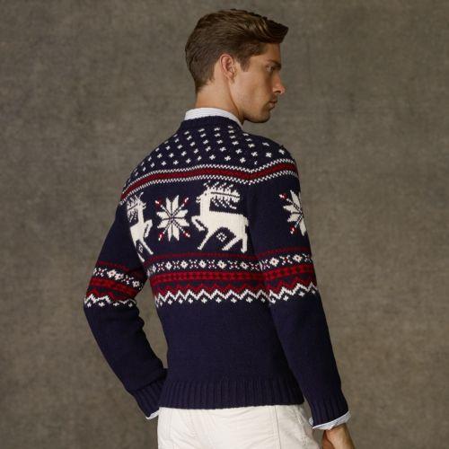 Intarsia Reindeer Sweater - Polo Ralph Lauren Crewneck - RalphLauren.com