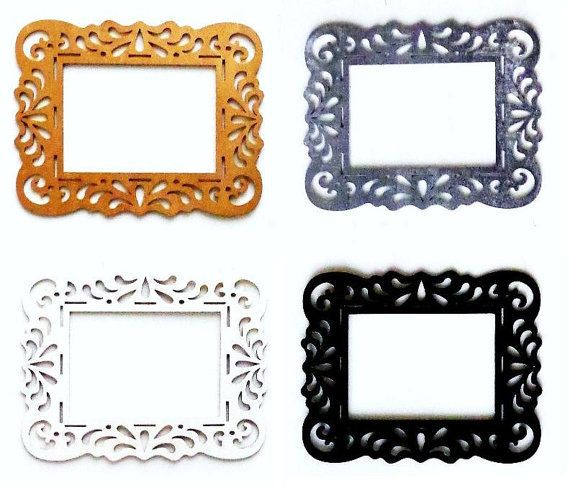 Antique White Open Back Ornate Frames 8.5x11 fits 5x7 White Picture ...