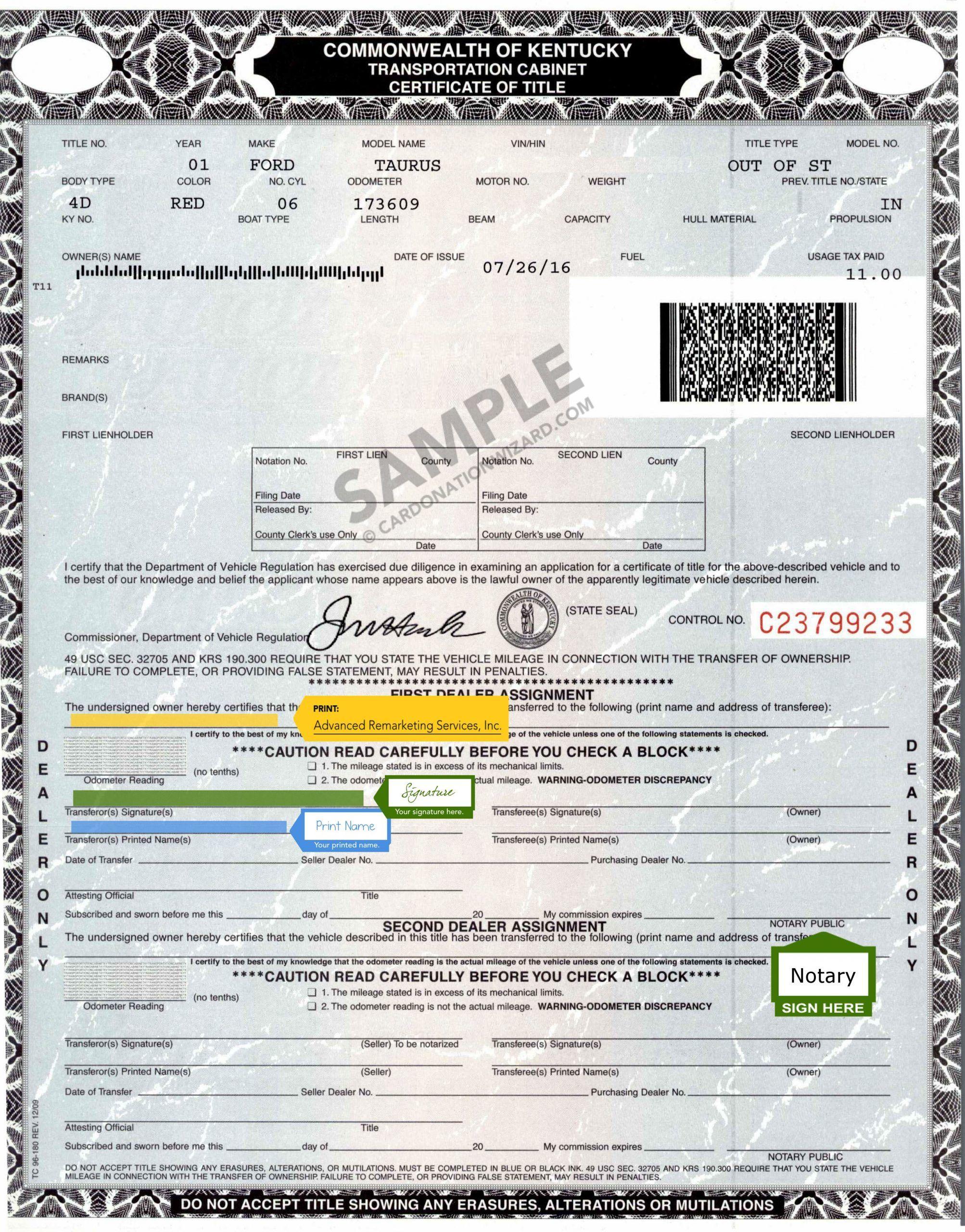 ce36b8f0aa0d3936d04e75abd7d9b268 - Application For Ky Certificate Of Title Registration
