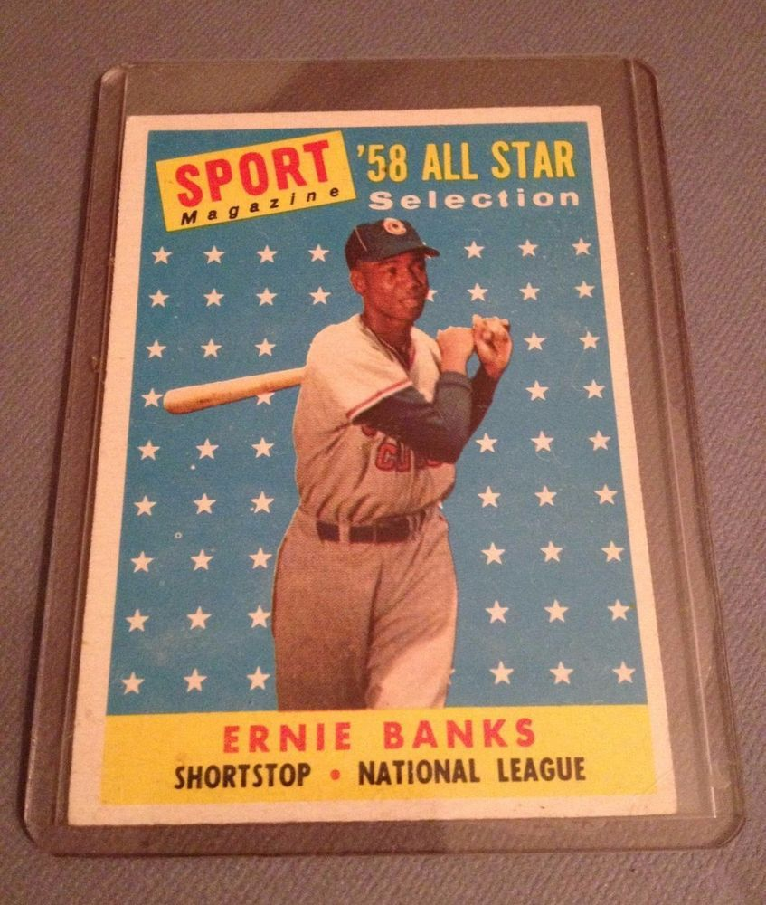 1958 topps ernie banks all star 482 chicago cubs