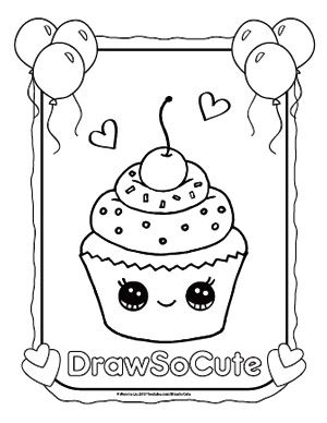 Coloring Pages Cute Coloring Pages Cupcake Coloring Pages
