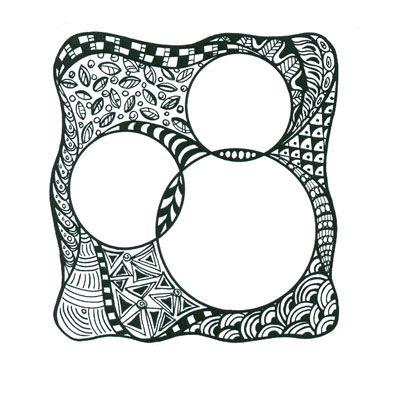 StampTangle Tri-Circle Block