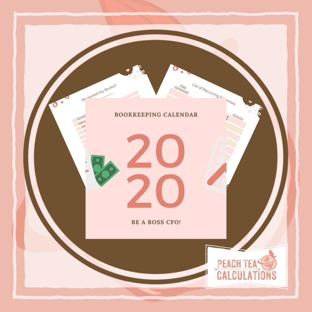 Bookkeeping Calendar Be A Boss Cfo Bundle