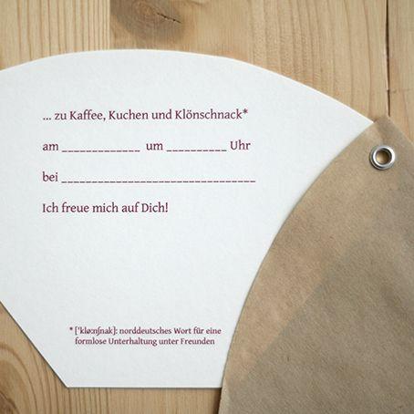 filtertüte diy: kaffeeklatsch-einladung ganz einfach selbst, Einladung