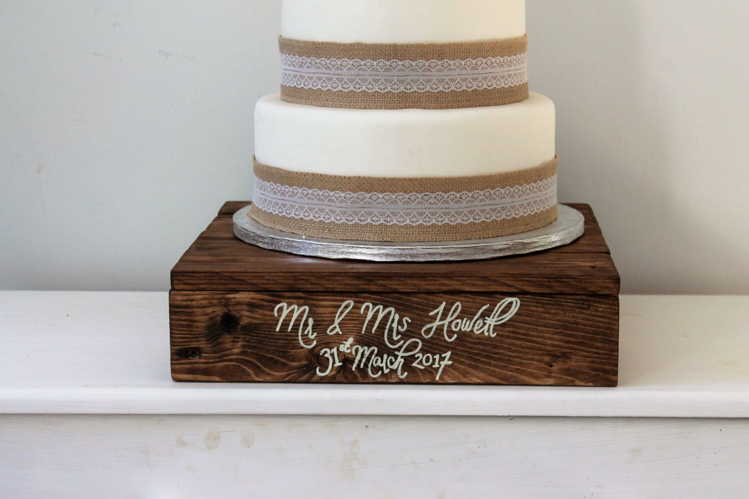A Personal Favourite From My Etsy Https Www Uk Listing 475576553 Rustic Wedding Cake Stand Wooden