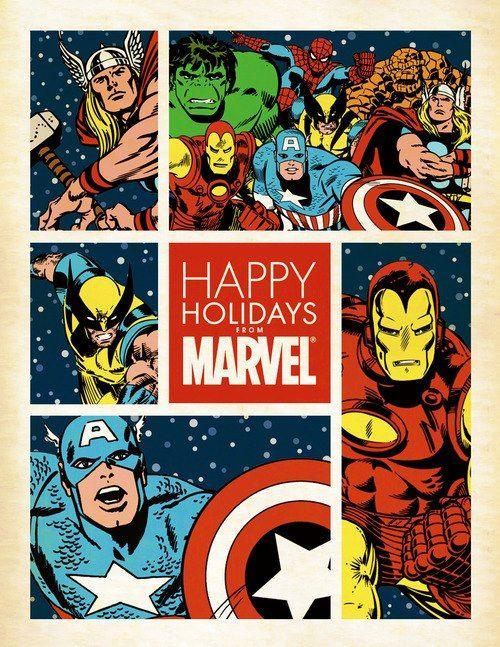Buone Feste in stile Marvel