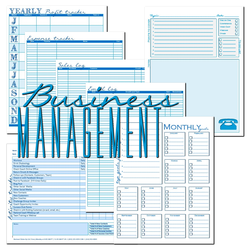 edit able coach business planner. set of planners for 2018 life and ...