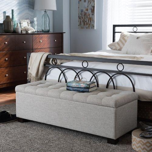 Master bedroom, king size bed, bench, storage bench, shoe storage ...